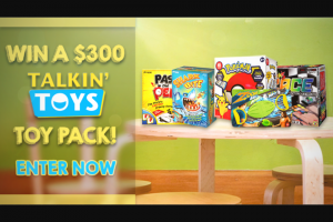 Channel 7 – Sunrise family – Win a Mega $300 Talkin Toys Prize Pack (prize valued at $320)
