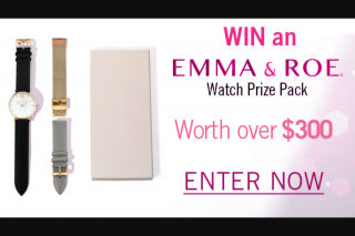 Channel 7 – Sunrise family – Win an Emma & Roe By Michael Hill Watch Pack