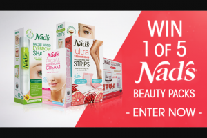 Channel 7 – Sunrise – Win a Nad's Natural Hair Removal Prize Pack