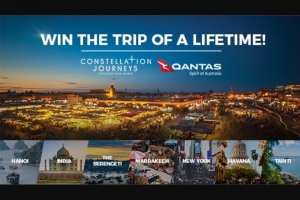 Channel Ten – The Living Room – Win The Constellation Journeys Trip of a Lifetime (prize valued at $59,000)