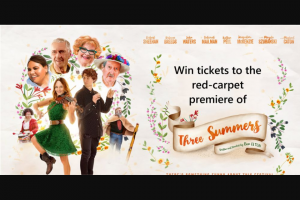 Community News – Win 1 of 10 Double Passes to Walk The Red Carpet With Ben Elton The Perth Premiere of Three Summers