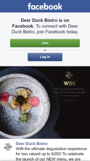 Deer Duck Bistro – Win The Ultimate Degustation Experience for Two Valued Up to $350 (prize valued at $350)
