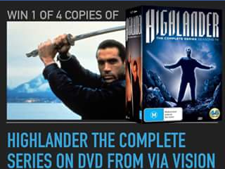 Director Suite – Win 1 of 4 Copies of Highlander The Complete Series on DVD From Via Vision .