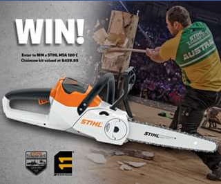 Eleven Workwear – Win a STIHL MSA 120 Chainsaw Valued at $459.95 (prize valued at $460)