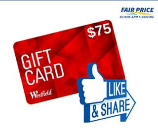 Fair Price Group FB – Win a $75 Westfield Gift Card