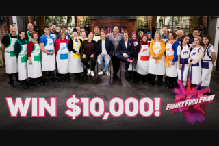 Family Food Fight-Ch 9 – Win $10000 Awarded Via Electronic Funds Transfer Into The Winner's Nominated Bank Account (prize valued at $10,000)