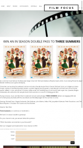Film focus – Win an In Season Double Pass to Three Summers