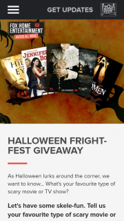 Fox Home Entertainment – Win The Ultimate Fright-Fest Pack