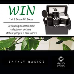 Garro Interior Design FB – Win 1 of 2 Deluxe Gift Boxes | a Monochromatic Collection of Designer Kitchen Sponges and Accessories