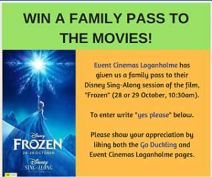 Go Duckling – Win a Family Movie Pass