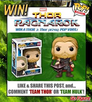 Go Figure Collectables – Win Their Very Own Thor Pop
