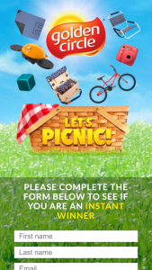 Golden Circle Lets Picnic – Win 1 of 750 Various Prizes Instantly (prize valued at $122,226.5)