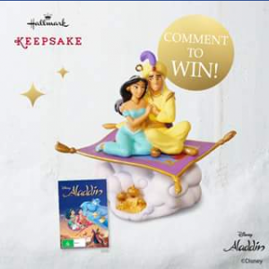 Hallmark Cards Australia – Win Today's Giveaway and Go Into The Running to Win an Aladdin Keepsake and DVD Pack