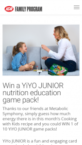 IGA Family Program – Win 1 of 10 Yiyo Junior Game Packs
