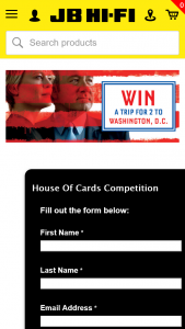 JB Hifi – Win a Trip for 2 to Washington D.C. (prize valued at $5,500)