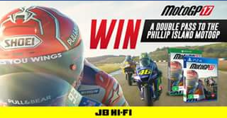 JB HiFi – Win a VIP Double Pass to The Australian Motogp at Phillip Island