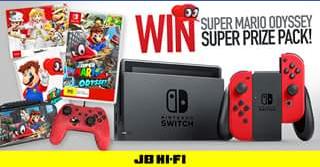 JB HiFi – Win Super Mario Odyssey Super Prize Pack