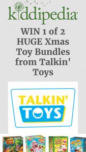 Kiddipedia – Win 1 of 2 Huge Xmas Toy Bundles From Talkin' Toys