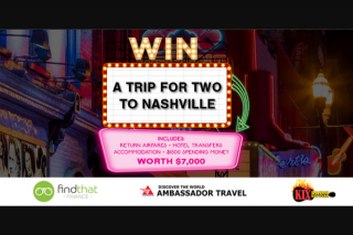 Kix Country Music – Win a Trip for 2 to Nashville (prize valued at $7,000)