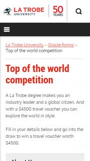La Trobe University – Win a $4500 Sta Travel Voucher (prize valued at $4,500)