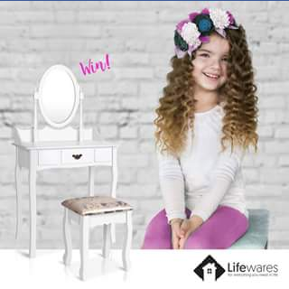 Lifewares – Win a Single Drawer Dressing Table With Mirror