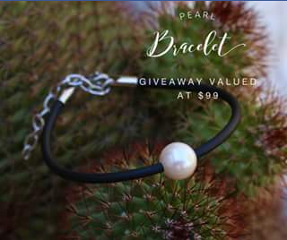 Mark Cox jewellery – Win this Pearl & Neoprene Bracelet Valued at $99.00 Simply Like (prize valued at $99)
