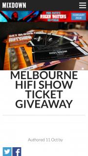 Mixdown – Win Melbourne HiFi Show Tickets