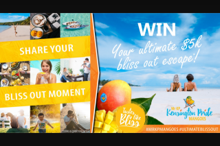 Red Rich Fruits – Mr KP Mangoes – Win Their Ultimate $5k Bliss Out Escape (prize valued at $5,000)