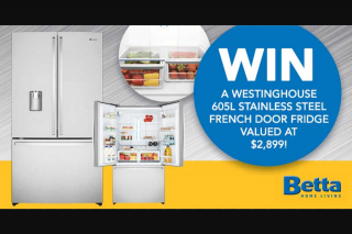 Mum Central – Win a Westinghouse French Door Fridge (prize valued at $2,899)