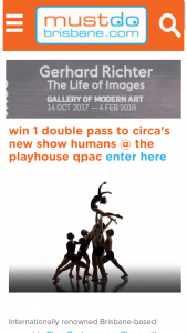 Must do Brisbane – Win a Double Pass (2 Tickets) The The Performance on Wednesday 6 December at 7.30pm