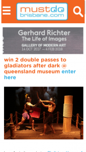 Must do Brisbane – Win Two Double Passes to Gladiators After Dark @ Queensland Museum
