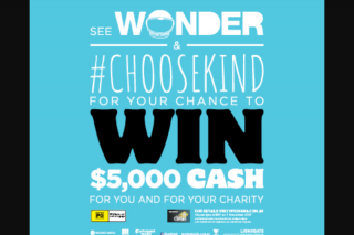 MyCinema – Win $5000 Cash for Yourself and $5000 for Your Chosen Registered Australian Charity (prize valued at $19.99)