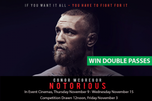 MyCityLife – Win a Double Pass to Conor Mcgregor Notorious