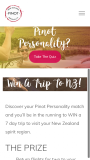 New Zealand Winegrowers – Win a 7 Day Trip to Visit Your New Zealand Spirit Region (prize valued at $7,800)