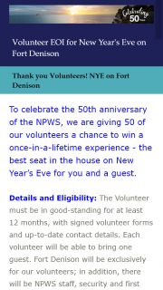 NSW National Parks and Wildlife Service Volunteers – Win a Once-In-A-Lifetime Experience
