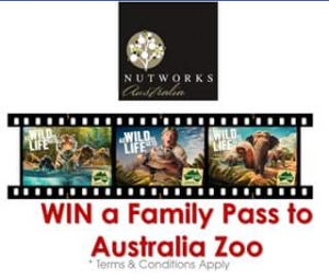Nutworks and the Chocolate Factory – Win a Family Pass to Australia Zoo