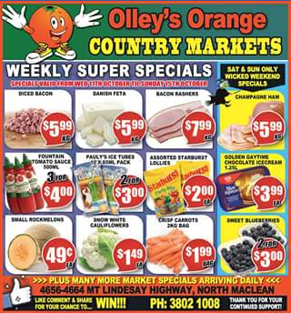 Olley's Orange Country Market – Win a $50 Fruit & Vegetable Box