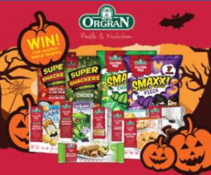 Orgran Health & Nutrition – Win a $100 Snack Hamper for Halloween (prize valued at $100)