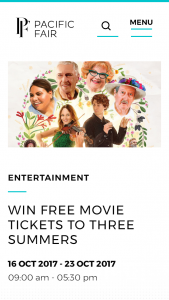Pacific Fair shopping centre – Win 2 Tickets