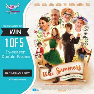 Perth festivals & events – Win 1 of 5 In-Season Double Passes to See Three Summers