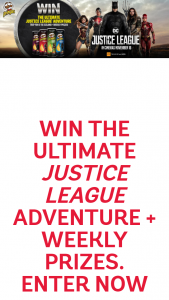 Pringles Justice League – Win a Trip to Iceland Or 140 Minor Prizes Unique Code 18 (prize valued at $18,488)