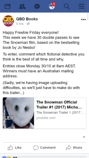 QBD – Win One of Thirty The Snowman Double Passes