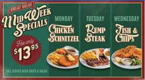 Roadhouse Grill – Win Two Chicken Schnitzel Specials