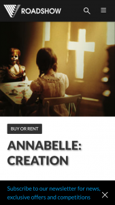 Roadshow – Win Annabelle (prize valued at $1,750)