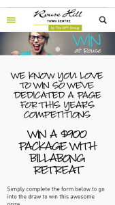 Rouse Hill Town Centre – Win this Awesome Prize