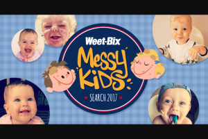 Sanitarium Weet Bix – Post image of your messy child & – Win a Prize for You and Your Baby (prize valued at $50)