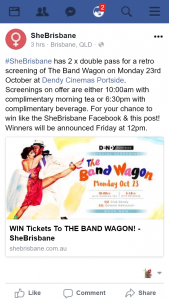 SheBrisbane – Win Two Double Passes to See The Bandwagon Dendy