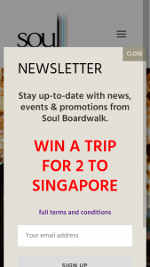 Soul Boardwalk – Win a Trip for 2 to Singapore – the Vibe Issue 2