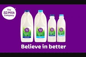Southern Cross Austereo HitFM Switch to a2 milk & – Win $2000 (prize valued at $2,000)