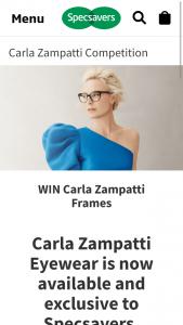 Specsavers – Win Carla Zampatti Frames